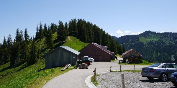 Höllritzer Alpe und Parkplatz