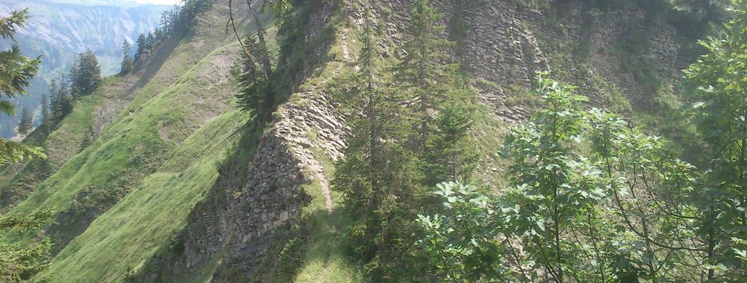 Grat oberhalb der Valors Alpe