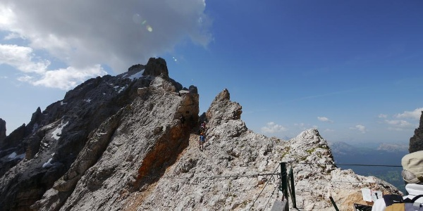 Einstieg Klettersteig Marino Bianchi (am Rifugio Lorenzi)