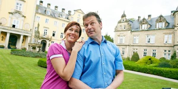 Schloss Bückeburg mit Paar