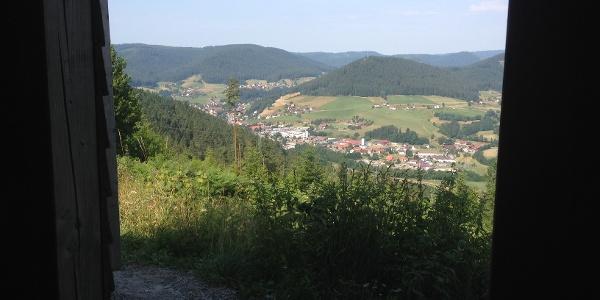 Blick auf Baiersbronn von der Zimmerplatzhütte