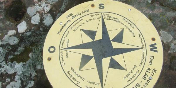 Orientierungstafel auf der Jüngstbergkanzel