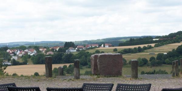 Blick vom Stausee nach Nonnweiler