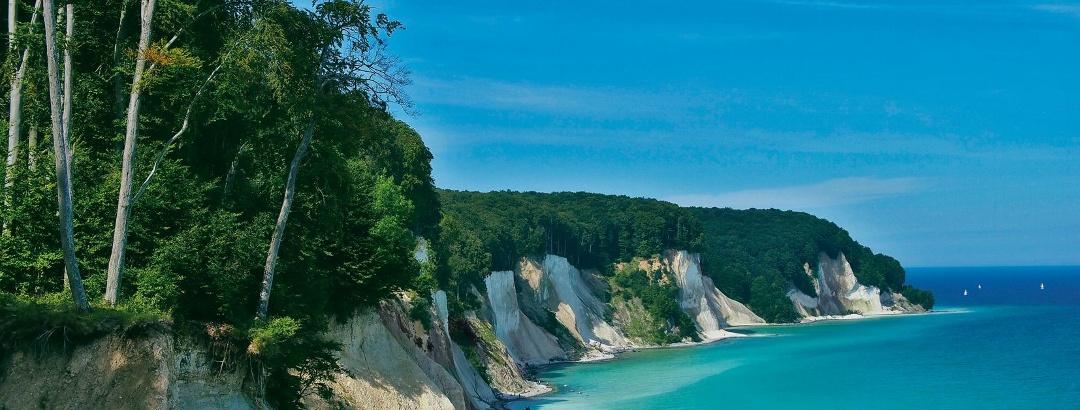 Blick über die atemberaubende Kreideküste