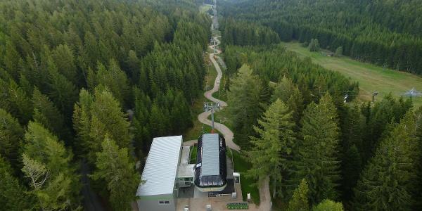 Blick auf Mönichkirchen von der Bergstation©Schischaukel Mönichkirchen-Mariensee GmbH