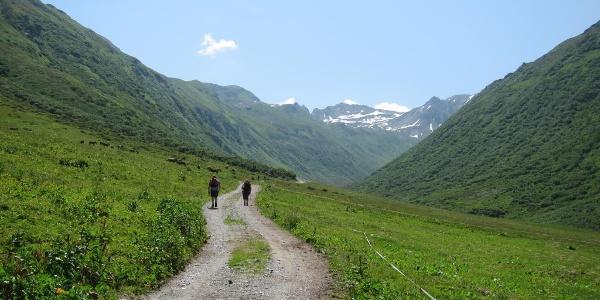 Weg in das Vergalda-Tal