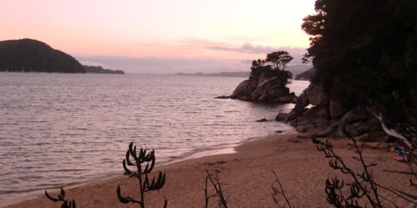 Sunset in Abel Tasman National Park