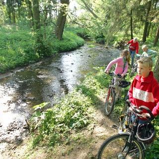 Radfahrer an der Düte