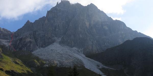 Tribulaun Südwand mit Einstiegsrinne