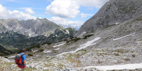 Die letzten Karststrecken - im Fritzerkar, links der Tagweidkamm
