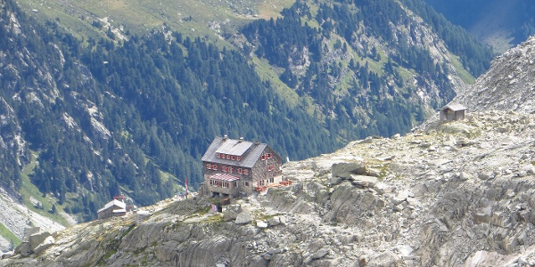 Bald wird der Blick frei zur Neuen Barmer Hütte