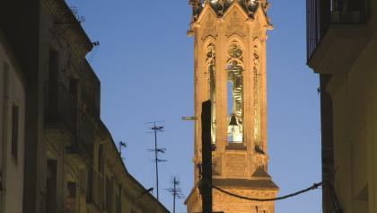 Glockenturm der Kirche Sant Joan in Valls