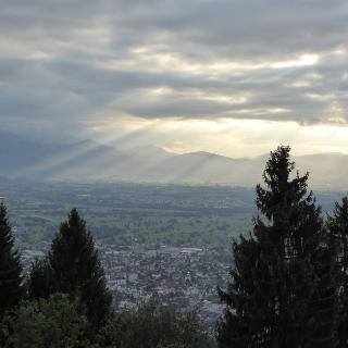 Blick übers Rheintal - coole Stimmung