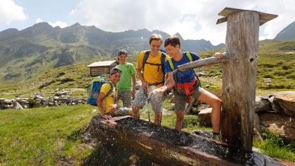 Family near Giglachsee Lakes on Alp Tour Obertal