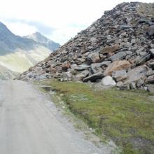 Wegabschnitte oberhalb der Dresdner Hütte wirken eher wie eine Straße und man sieht vor allem viel Stein
