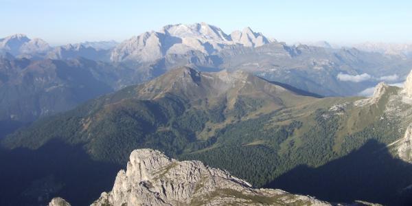 Blick vom Rifugio Lagazuoi auf die Marmolada