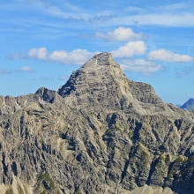 Blick vom Schneck-Gipfel auf den Hochvogel