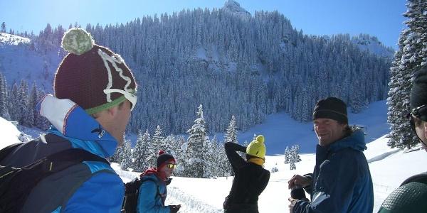 Schneeschuhwanderung Laber - Blick auf das Ettaler Manndl