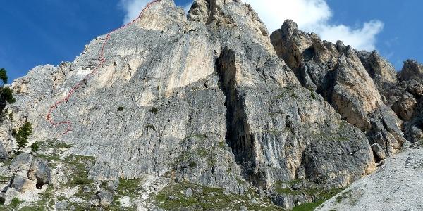 Routenverlauf Via della guide (Bergführerweg)