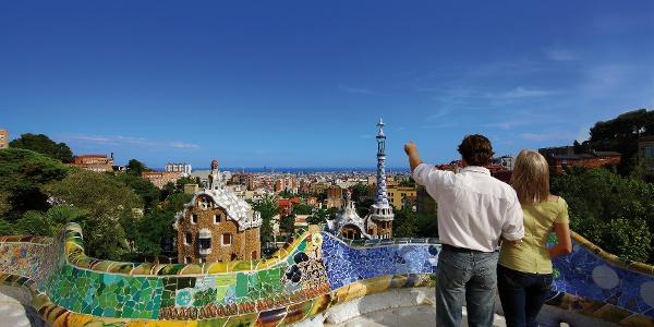 Barcelone - vue sur la ville depuis le Parc Güell