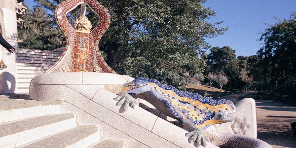Barcelone - Parc Güell, dragon