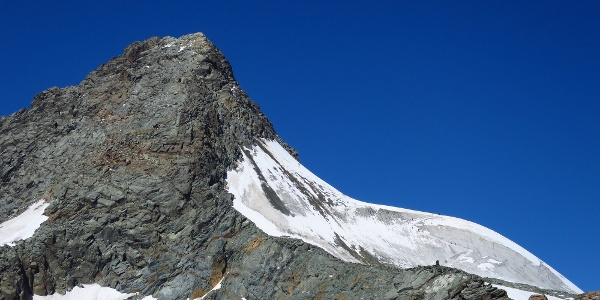 Der Blick von der Erzherzog Johann Hütte zum Aufstiegsgelände.