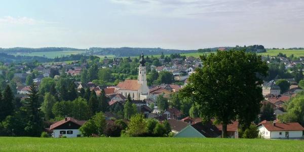 Blick vom Berndlberg auf Triftern
