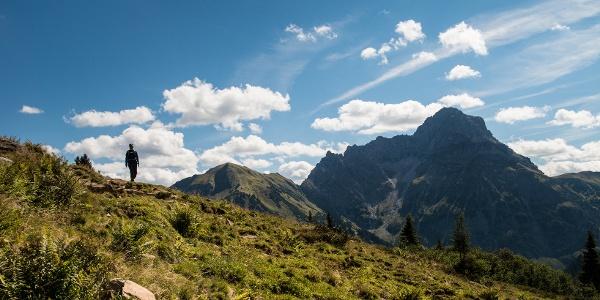 Bergpanorama des Kleinwalsertals