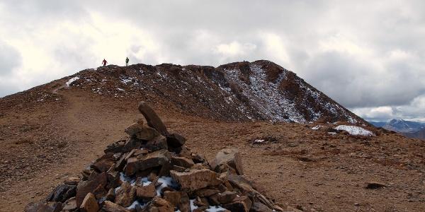 Gipfelgrat vom Sattel 4365m