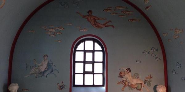 Wandmalerei im Bad
