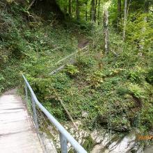 Die vierte Brücke jetzt direkt dem Bach entlang weiter.