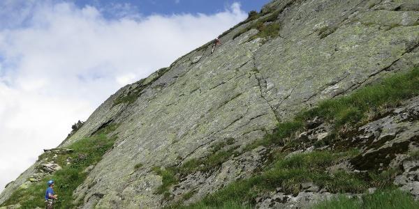 Vorderer Bereich des Klettergartens