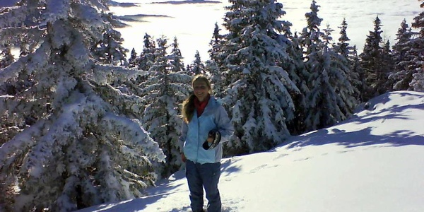 Winterlandschaft am Weg zum Bärofen