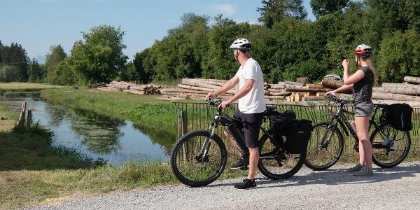 Unterwegs auf der Oberdorfer Radlrunde bei Bertoldshofen