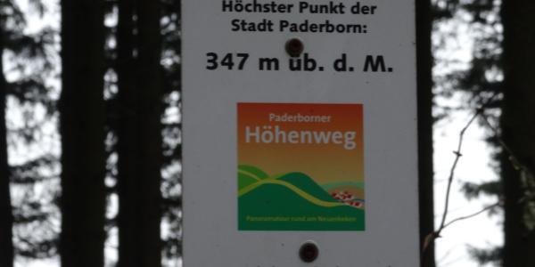 Höchster Punkt in Paderborn