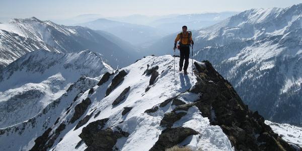 Blick vom Gipfel in Katschtal Richtung Süden