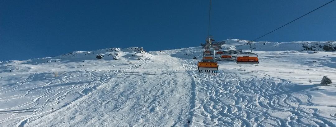 Skifahren am Hochzeiger im Pitztal