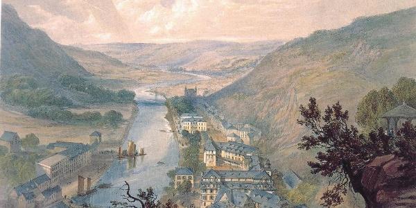 Historischer Ausblick von der Bäderlei