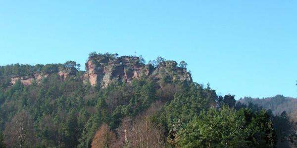 Der Burghalder-Felsen (Karolingische Fliehburg)
