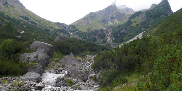 Aufstieg zur Muttekopfhütte