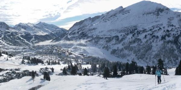 Blick vom Grünwaldkopfrücken nach Obertauern