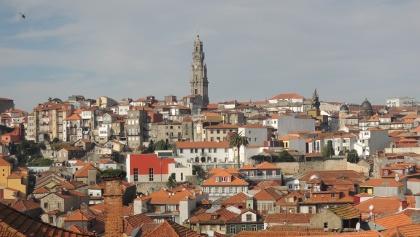 Blick über die Stadt Porto