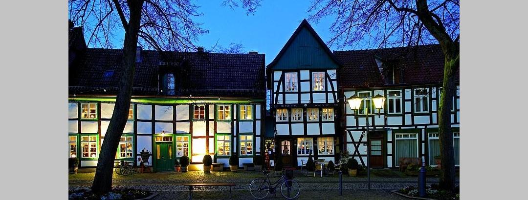 Der idyllische Marktplatz von Bad Essen gehört zu den schönsten im Osnabrücker Land