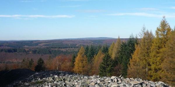 Herbstlicher Ausblick vom Ringwall