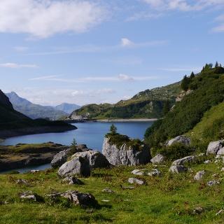 Blick über den Spuller See
