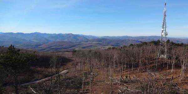 Blick von Aussichtswarte: Wienerwald und Voralpen