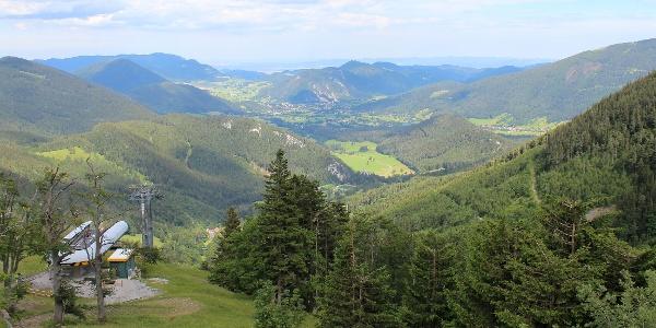 Blick von der Terrasse Richtung Puchberg