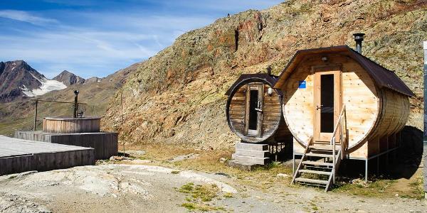 """Die """"Schöne Aussicht"""" ist eine Luxushütte, die in der kalten Jahreszeit sogar eine Sauna betreibt"""