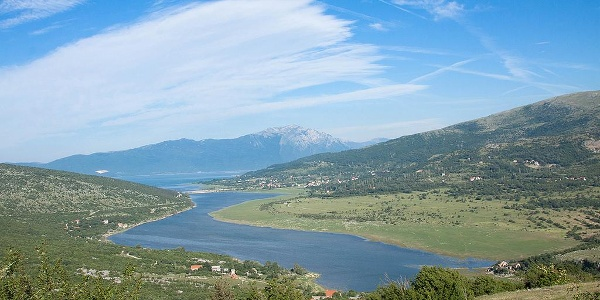 View on RIčina, Kamešnica in the background
