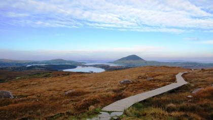 Ausblick vom Weg auf den Gipfel